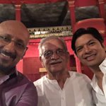 "Wait Up! I am coming!!!! ""@shantanumoitra: With the man himself at the shoot @shreyaghoshal  @singer_shaan https://t.co/XiqAvHgj2i"" #Gulzar"