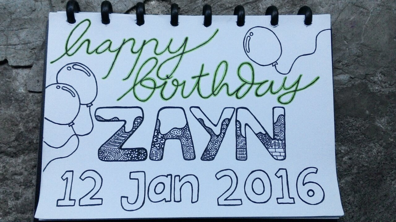 Happy birthday Zayn Malik jus\t can\t believe that you are 23. That\s Wonderful bro! Lots of love just for you!