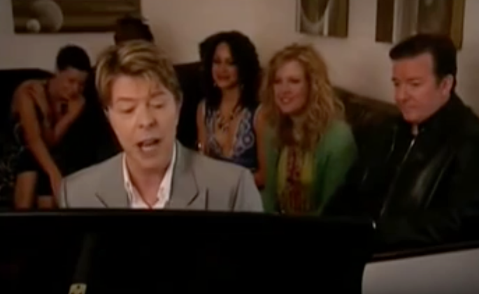 RT @Slate: David Bowie's best TV appearance ever was this bit from Ricky Gervais' Extras: https://t.co/cjgJ7OHWK9 https://t.co/MTzIIf96qO