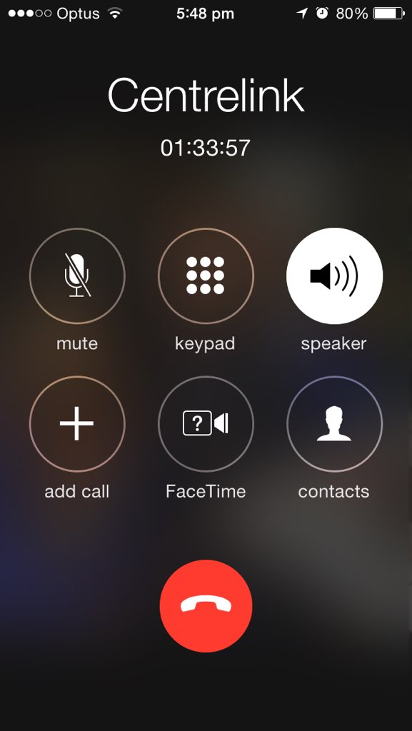 Hey @Centrelink, here's a screenshot of how long I waited on hold, before I gave up. Surely in 2016 u can do better? https://t.co/L36RXgyAau