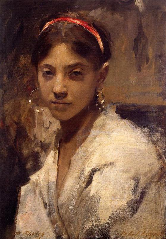 John Singer Sargent was #bornonthisday in 1856. This is his 'Head of a Capri Girl', 1878. https://t.co/j1j9FZsoH1