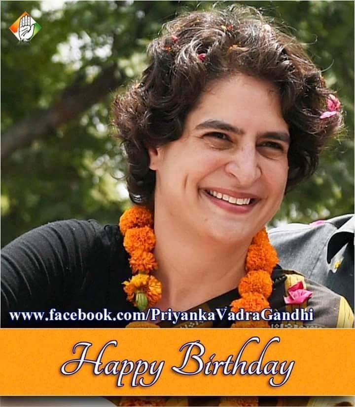 Happy Birthday to Smt. Priyanka Gandhi ji .