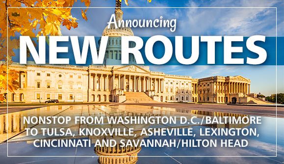 RT @Allegiant: We're announcing 6 new routes to Baltimore / Washington D.C.!