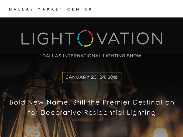 See the future of #lighting at the Jan. 20-24 @DallasMarket #Lightovation show, featuring a @Light4Tomorrow Gallery. https://t.co/dmbGoVGCKx