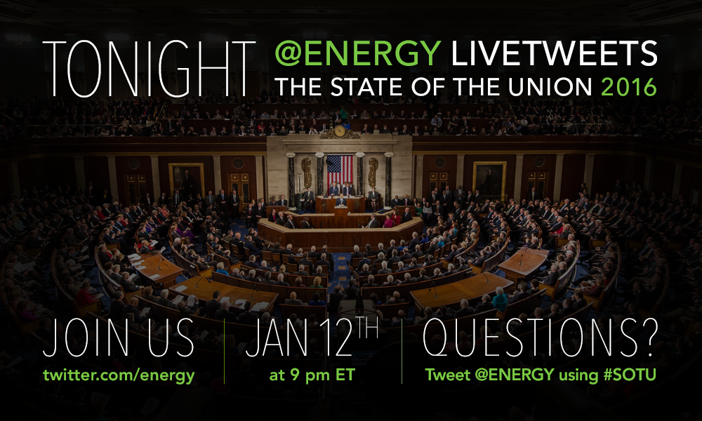 TONIGHT: We'll be tweeting all things #energy during #SOTU! → https://t.co/lLcQlKbggQ https://t.co/3z04JnDU8q