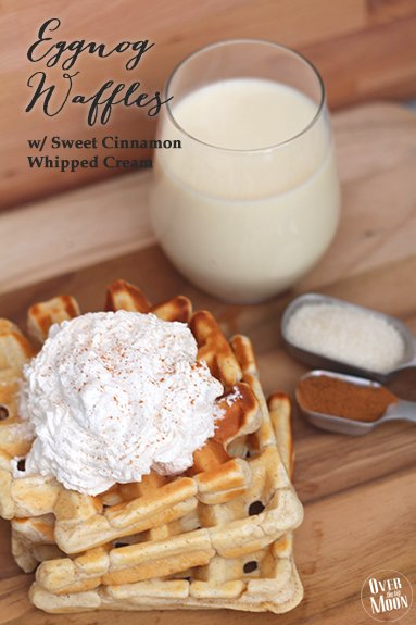 You're getting hungry, very hungry - Eggnog waffles w/ sweet cinn. whipped cream --> https://t.co/VoaOa0OLtv #ad https://t.co/2e813jpR3k