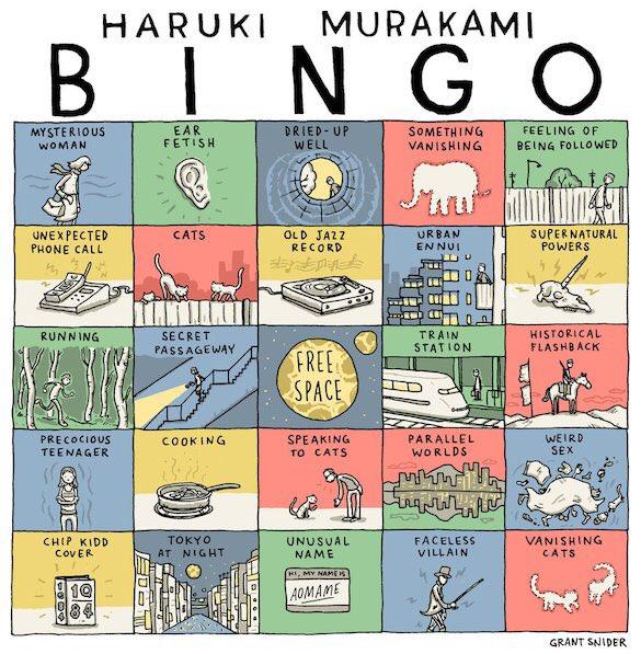 Happy Birthday, Haruki Murakami! Celebrate w/ a game of Murakami Bingo! h/t