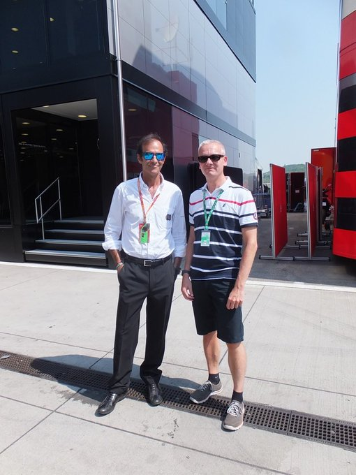 This is me with during last year\s Hungarian GP weekend. Happy Birthday Champion!