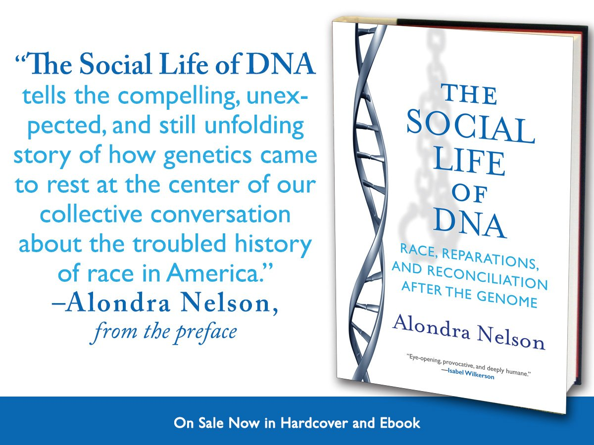 Happy pub day to @alondra and her book #TheSocialLifeofDNA! https://t.co/j0Y25IujOH https://t.co/Bg3Z5TbGNd