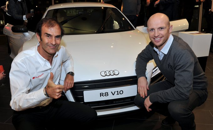 Happy Birthday to legend (here with Matt Dawson launching the R8 at West London Audi)