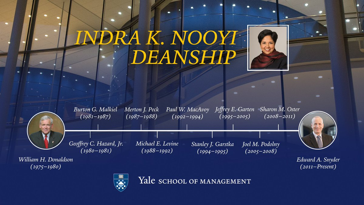 .@PepsiCo Chairman & CEO Indra K. Nooyi '80 endows deanship at Yale School of Management. https://t.co/DRXxnLt5oD https://t.co/CUyvsxavS7