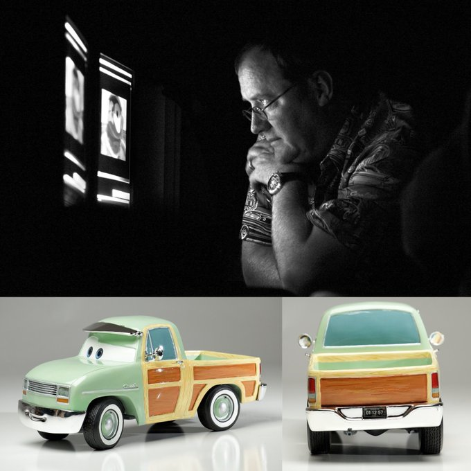 Happy 59th Birthday to John Lasseter! Ever spotted his B-day (Jan 12) on the Lassetire truck plate?