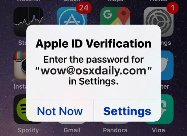 Fix Constant Apple ID  Verification Password Pop-Ups  on iPhone & iPad https://t.co/UCF8nNA9eT ~ @osxdaily https://t.co/rdEGWKp1PP