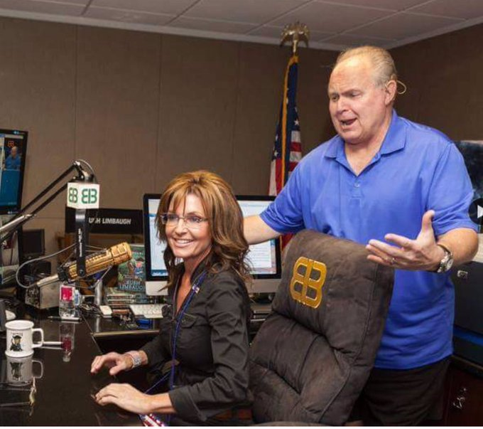 The great Rush Limbaugh & the great Sarah Palin. Happy Birthday, Rush! It\s freaking scary to think we didn\t have U