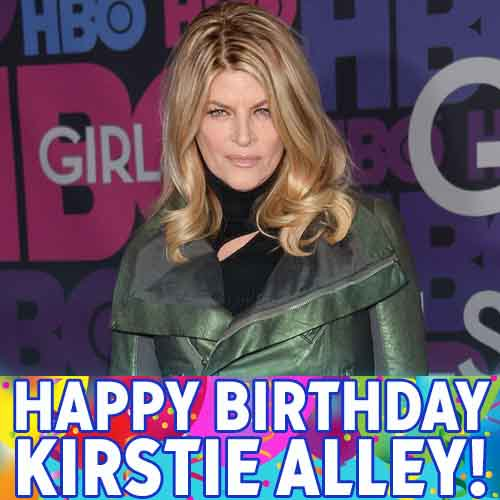 Happy Birthday, Kirstie Alley! The actress and comedian turns 65 today!