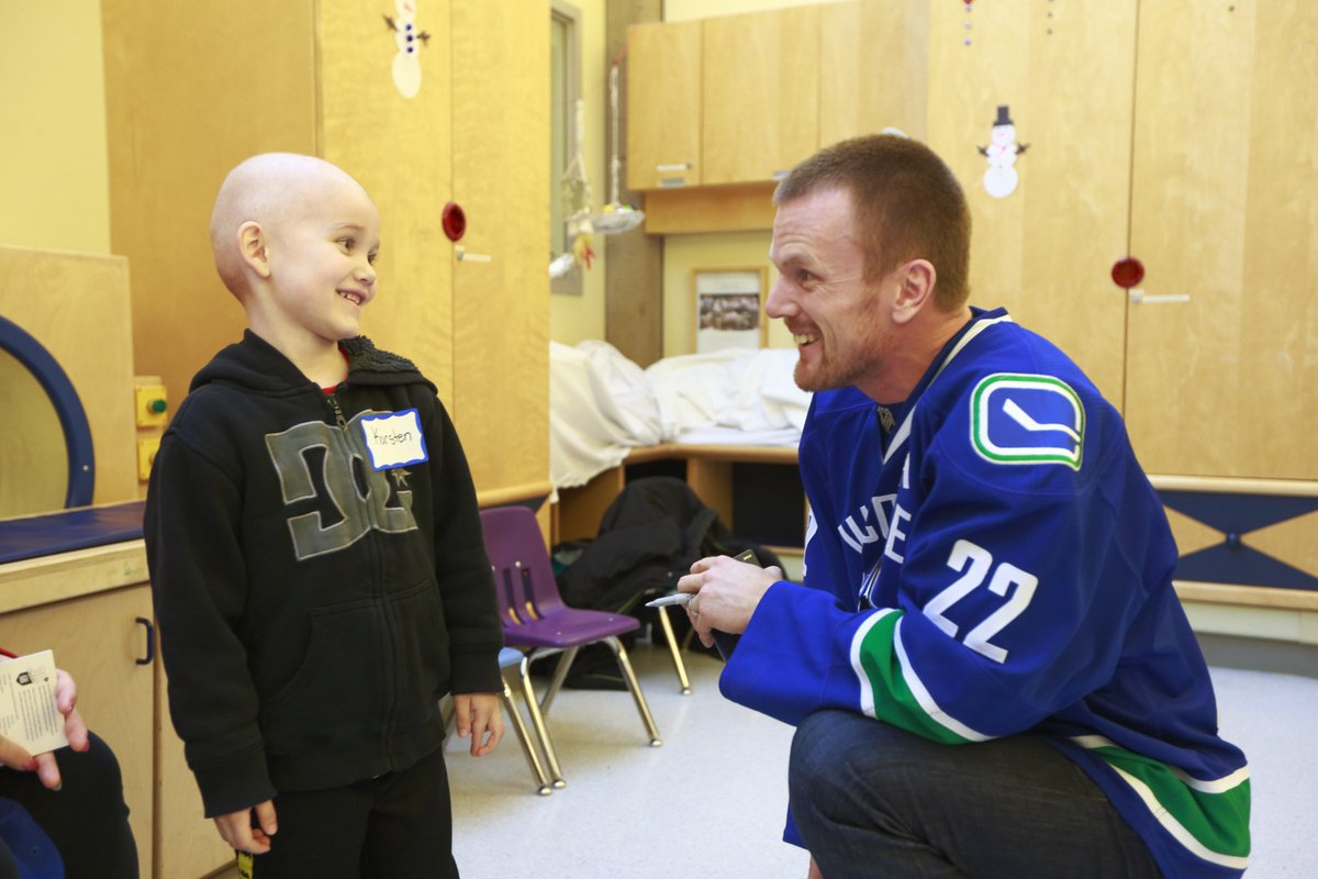 Supporting one of the best people we know today. $1.5M to #BCCH says lots about a person. #Sedins #canucks #Donation https://t.co/hUbTAMCfro