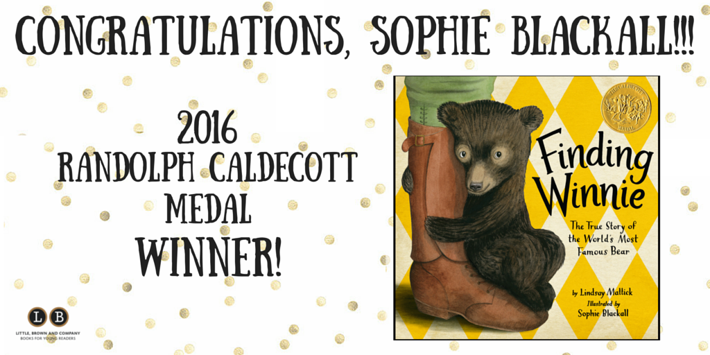 Yay @SophieBlackall! We're just the teensiest bit excited. https://t.co/v7jMB8yY4T
