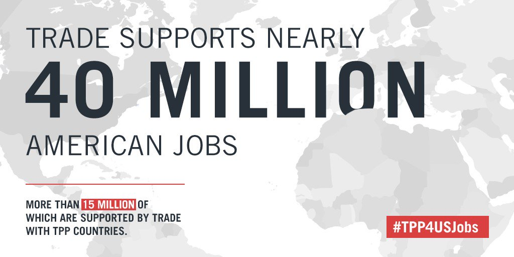 To boost the U.S. economy and support millions of American jobs, U.S. trade expansion is key #TPP4USJobs #SOTU https://t.co/DsMgoYeFPf