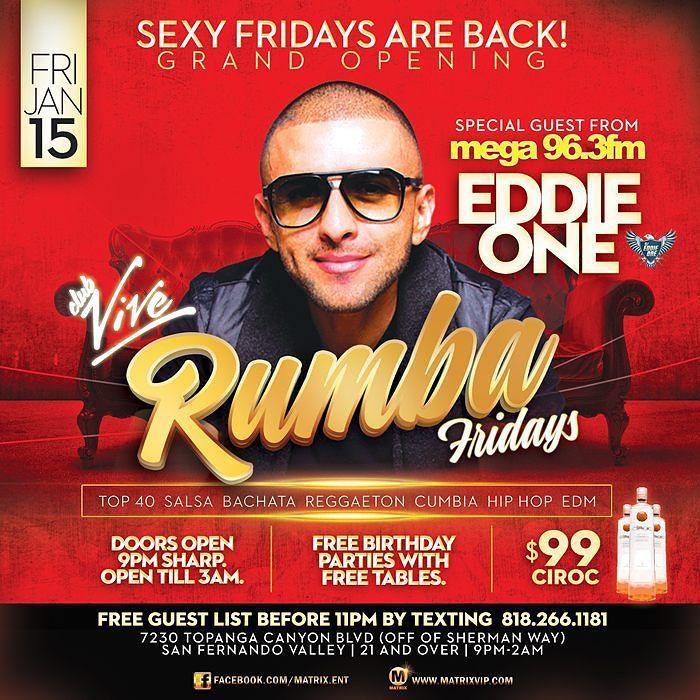 This Friday Rumba Fridays Vivenightclub Free Guest List B4 11pm 99 Bottles TAG
