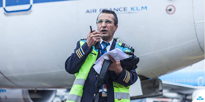 Hello, it's me: KLM's Atilla Balci, for all your on-time departures.