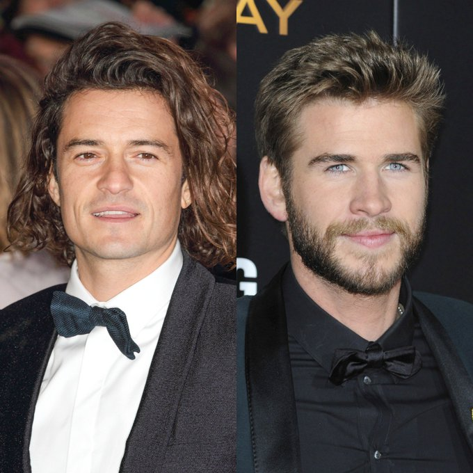 Two hunks were born today: (26) and Orlando Bloom (39)! Happy Birthday to you both!