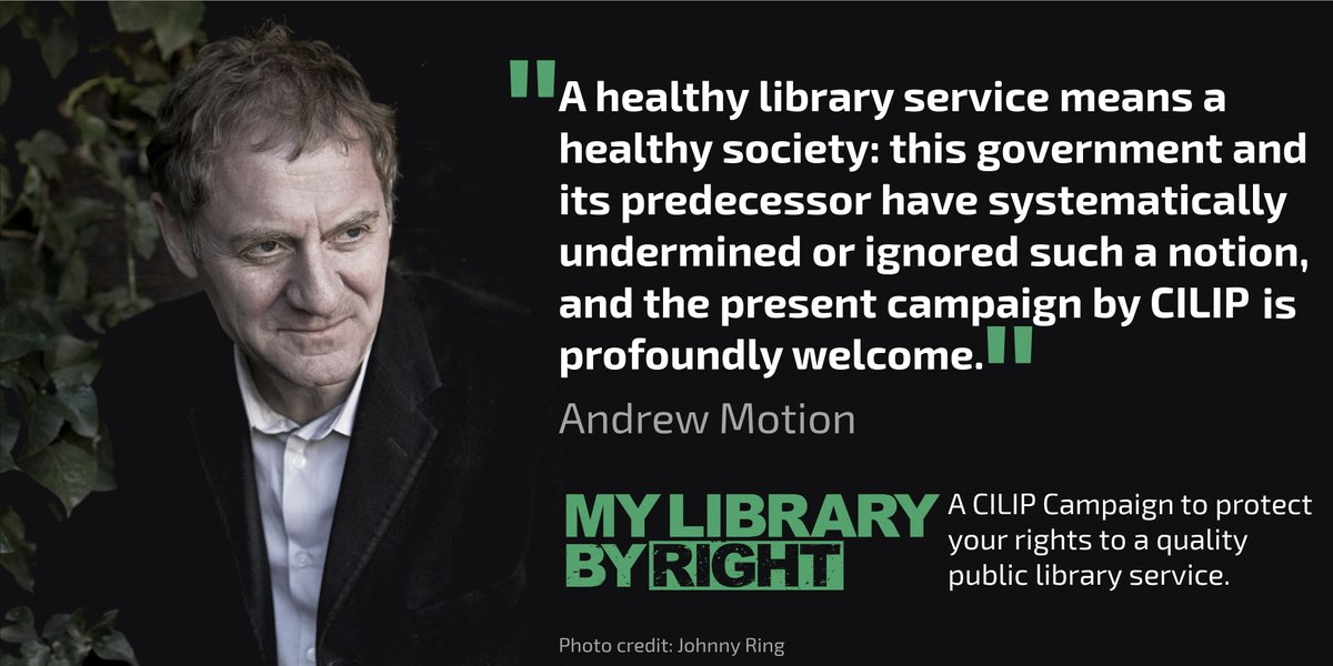 """A healthy library service means a healthy society"". Sign the #MyLibraryByRight petition https://t.co/Qge0Rr5fwm https://t.co/yQ3eRrmHQW"