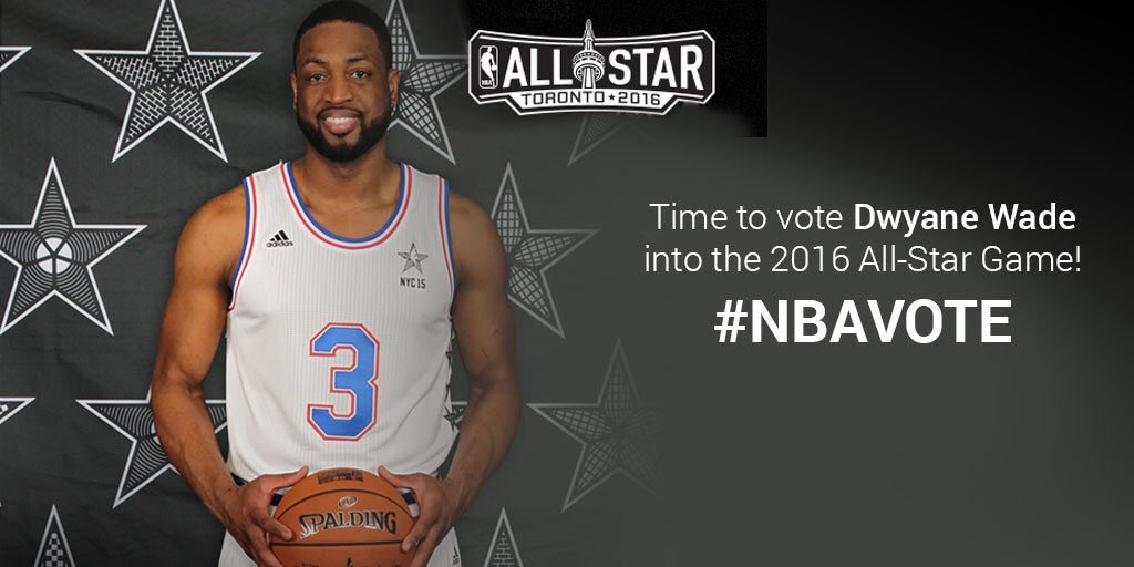 My @MissionAthlete partner Dwyane Wade is #onamission to play in the #AllStar game! RT to #NBAVote now! @DwyaneWade https://t.co/5p78OCsJs8