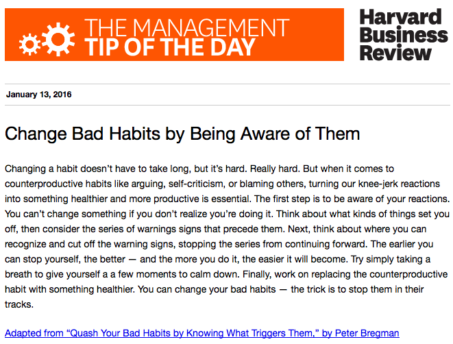 Today's management tip: You can't change something if you don't realize you're doing it https://t.co/41XmktEuai