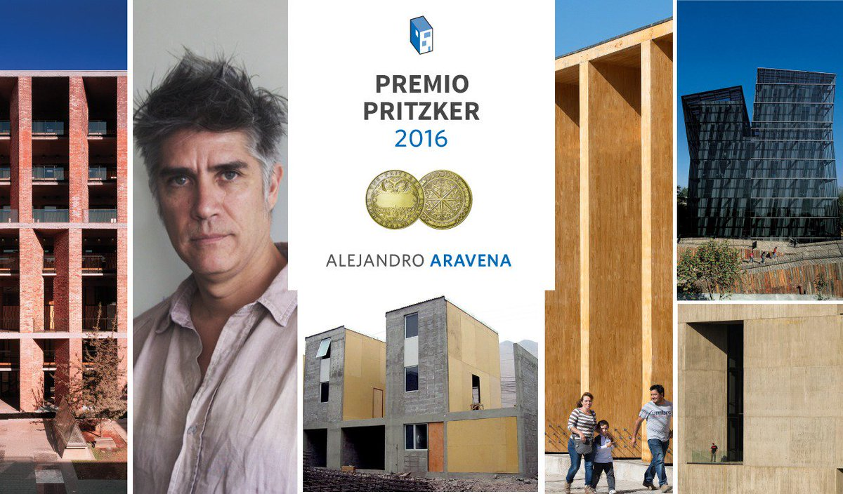 Alejandro Aravena, Premio Pritzker 2016 #pritzker https://t.co/poCsKnyAl1 https://t.co/WXVVQT4FWx
