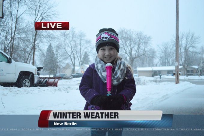 Happy birthday !! Here\s my own little weather reporter we Photoshopped last weekend :)