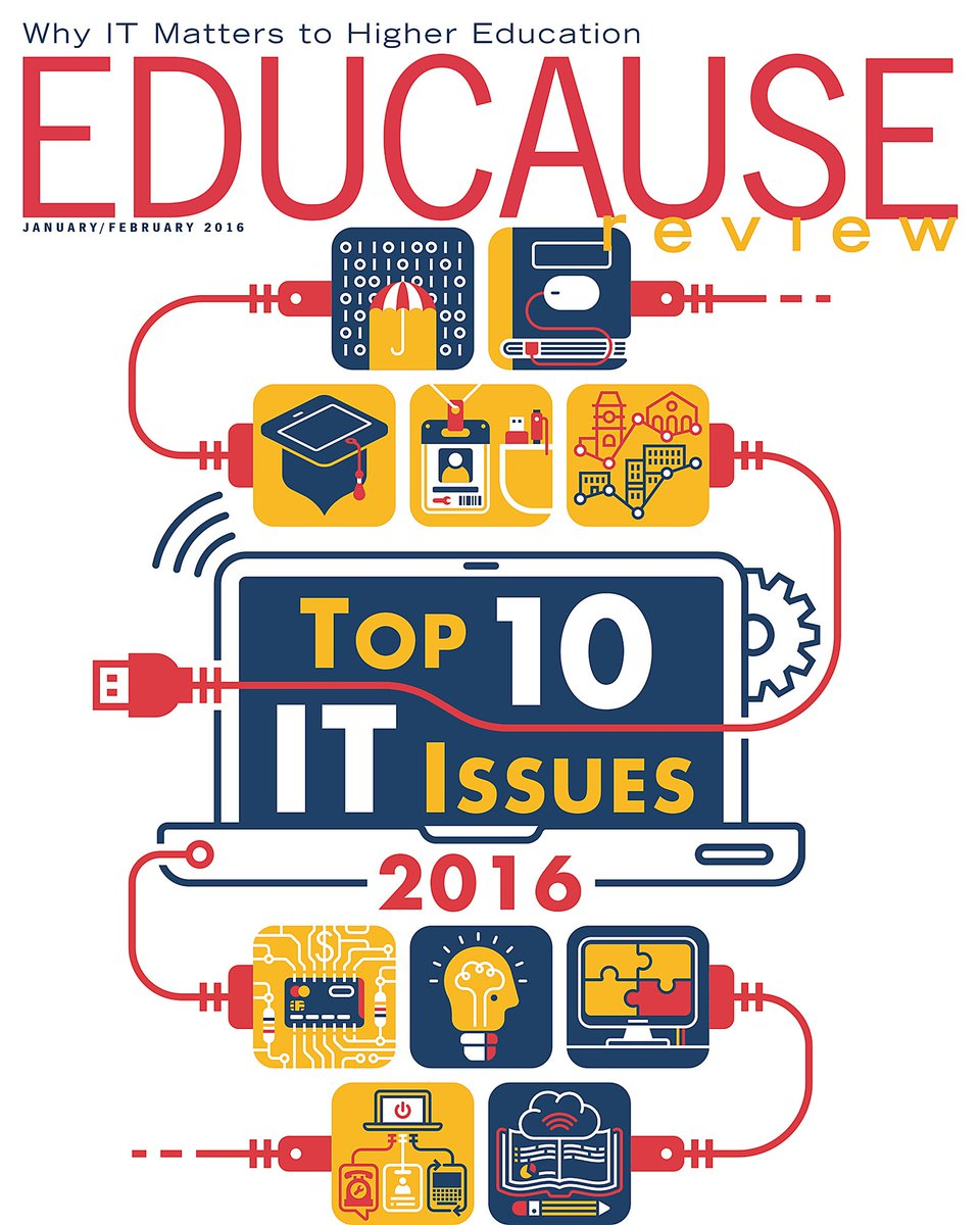 It's here! Our annual report on the Top 10 IT Issues in #highered: https://t.co/1RKVYBz8dG https://t.co/UktZQfyJgW