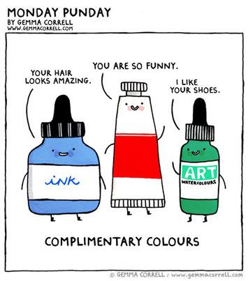What's better than art supplies? Complimentary Colors! @gemmacorrell just gets it. https://t.co/nI70JU35dt