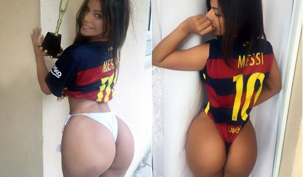 RT @TheSunFootball: How's that for a strip? Miss BumBum shows off her love for Lionel Messi https://t.co/B6Ba6Tvple https://t.co/YJCWgX9BUa