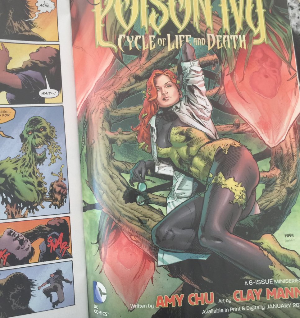 Landing next week! Check out this sweet ad in @LenWein Kelley Jones Swamp Thing #1 #DCComics #DCPoisonIvy https://t.co/9nbIGDPbLM