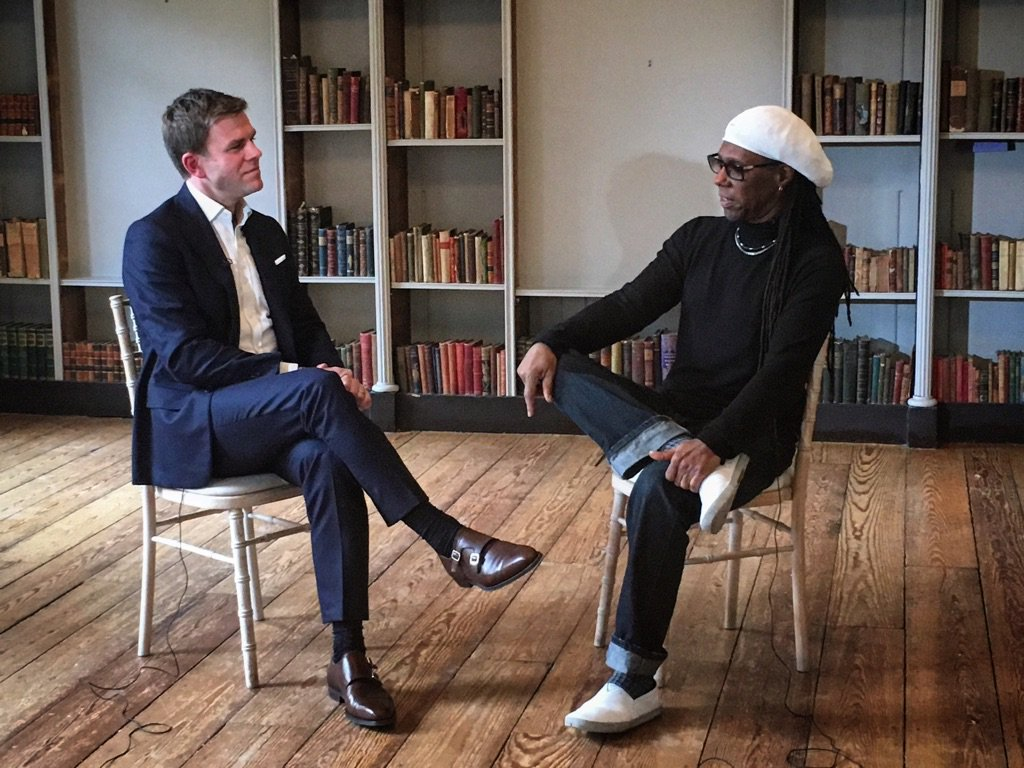 A privilege to speak to @nilerodgers today, about #DavidBowie and the Big C. See it at 6.30 on @5_News Tonight. https://t.co/pmsvgzklFL