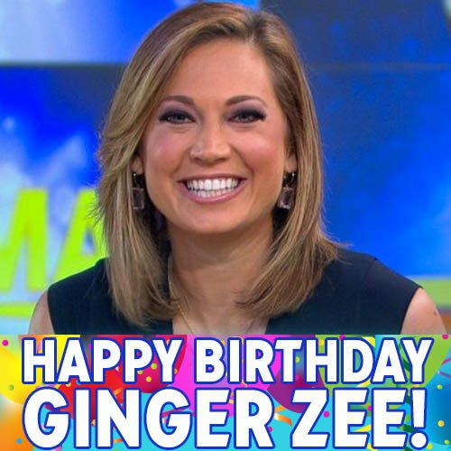 Happy Birthday, Ginger Zee! ABC News chief meteorologist and new mom to 3-week-old Adrian turns 35 today.