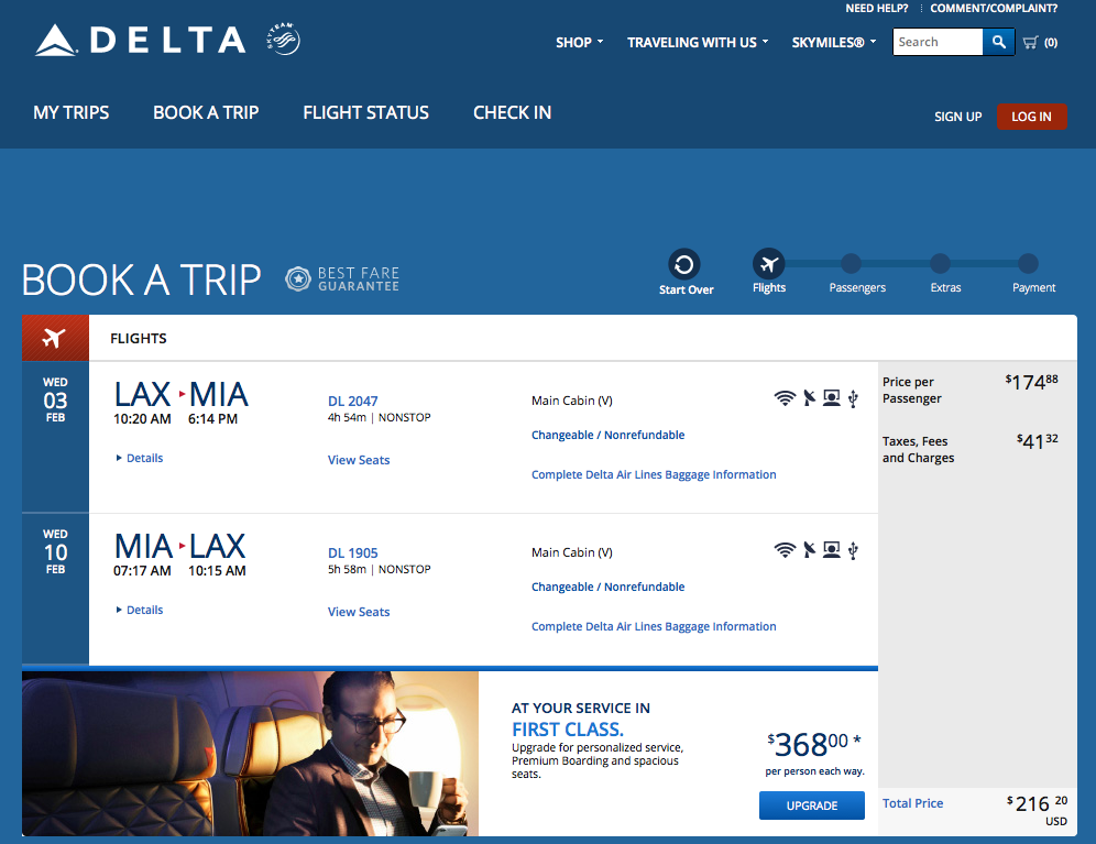 RT @airfarewatchdog: Los Angeles LAX to Miami MIA $217 round-trip, nonstop, on @Delta