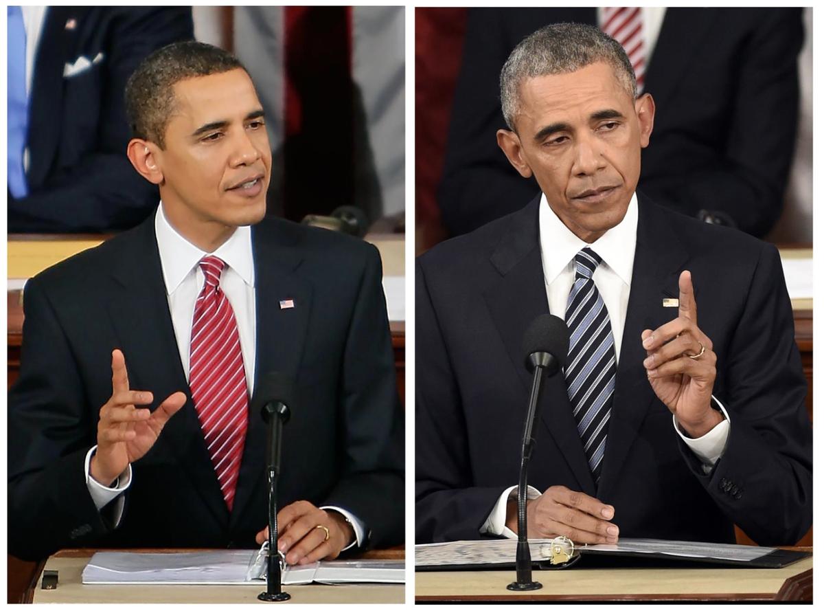 El primer discurso presidencial de Obama y el último. No da envidia, no. https://t.co/JZcikCz2Y7