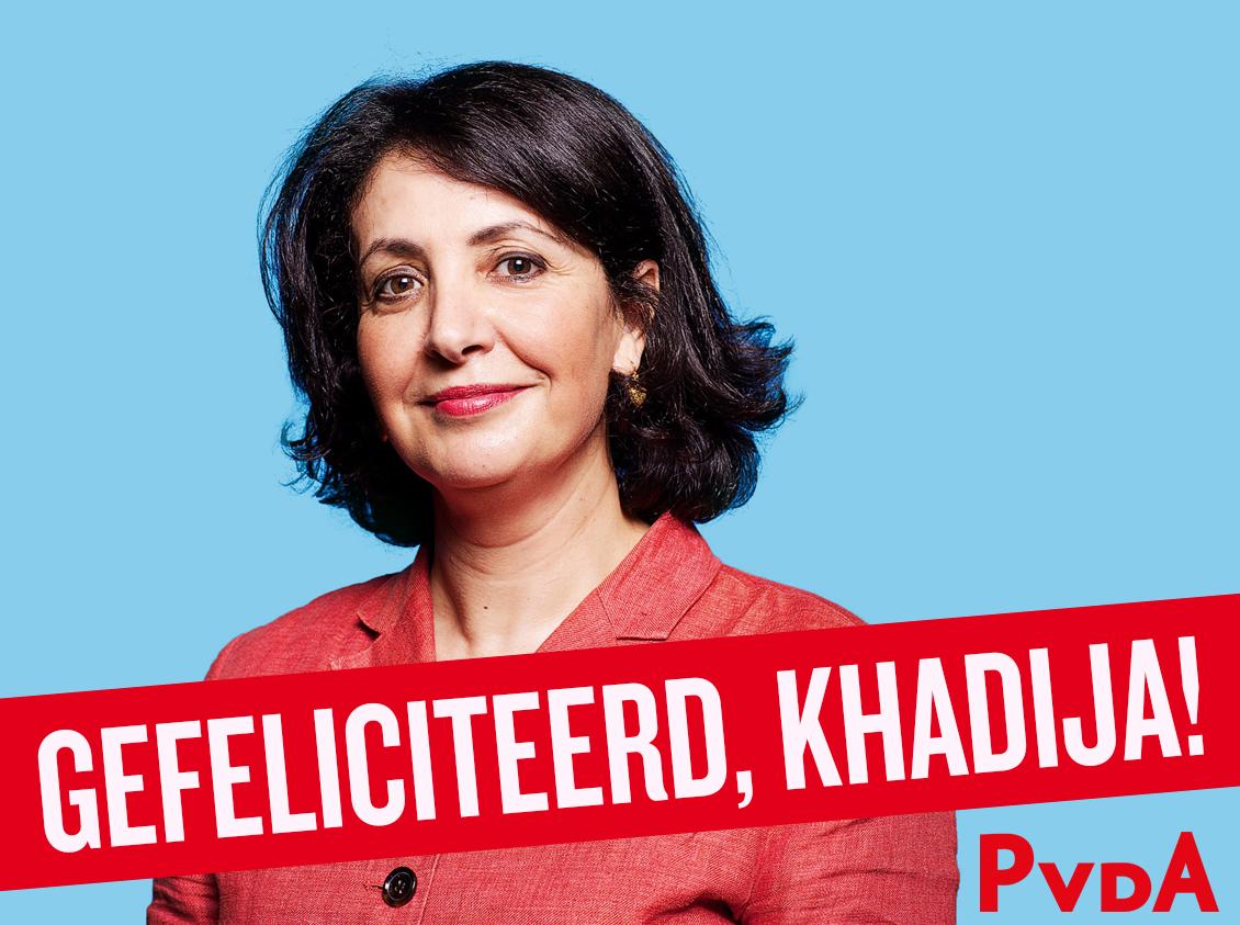 Blij met en trots op de nieuwe voorzitter van de Tweede Kamer: @khadijaArib! https://t.co/1llDUkDMSj