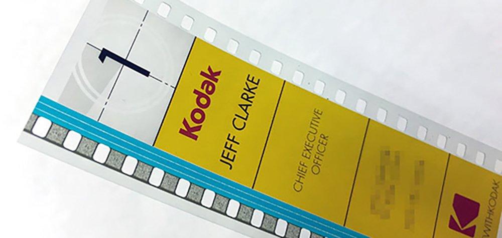 Le CEO De Kodak Utilise Une Pellicule Comme Carte Visite