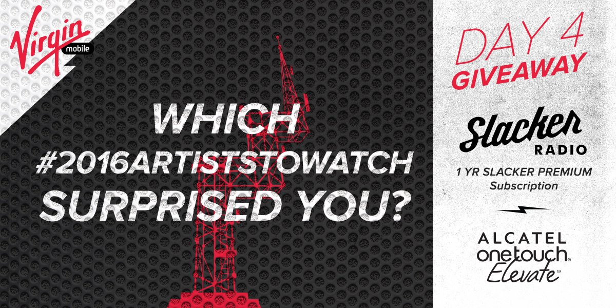 REPLY & RT using #2016ArtistsToWatch for a chance to win. Get into it on @SlackerRadio https://t.co/veX3K343pF https://t.co/xBPxrPvYVF