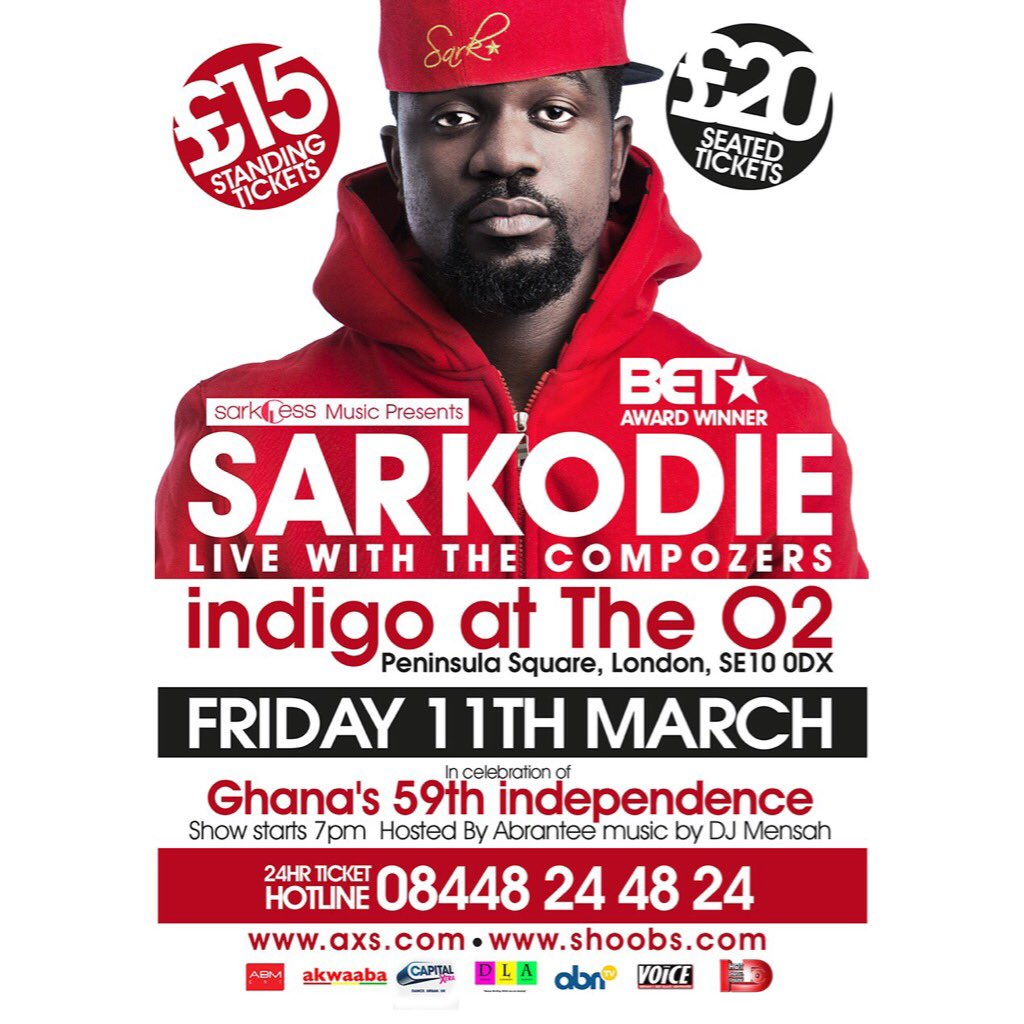 Get your seated tickets now before they sell out https://t.co/UpdywvR3ND @Compozers @sarkodie @DJMENSAH1 https://t.co/xIOVKSB4xw
