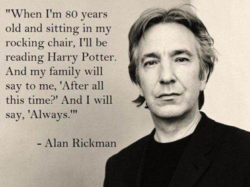If you know me, you'll know that I adore Alan Rickman. I always will. Travel safe, beautiful man. https://t.co/vgnq9XlWTi