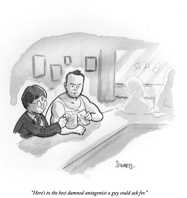 Remembering the actor Alan Rickman, in this cartoon by @BentSchwartz: https://t.co/a35CPgUxLO https://t.co/moUFpyl4SM