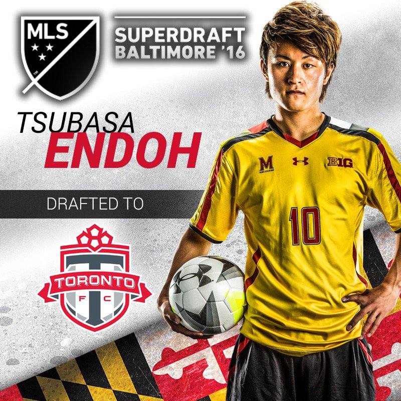 CONGRATS to Tsubasa Endoh for being selected with the ninth overall pick by @TorontoFC in the @MLS SuperDraft! https://t.co/9jaVn9Pn9T