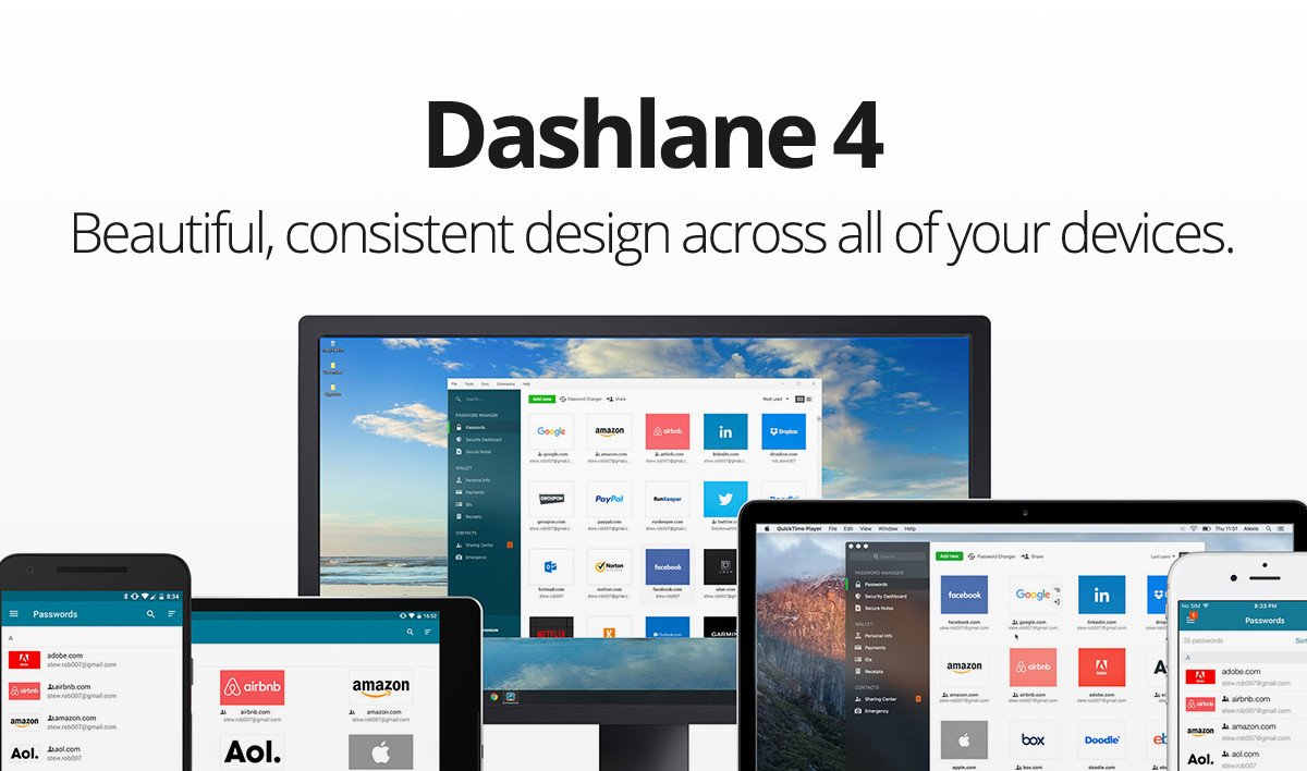 It's here! The all-new @Dashlane 4 is on its way to you on Windows, Mac, iOS and Android: https://t.co/GS5Mk5m3qr https://t.co/zuL8WHu7qX