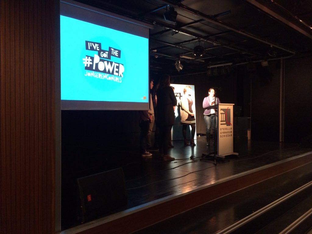 Presentatie resultaten jongerencongres. Overhandiging boekje aan @NGouweleeuw en oa toelichting van @jwvogels https://t.co/fCB1vomqkQ