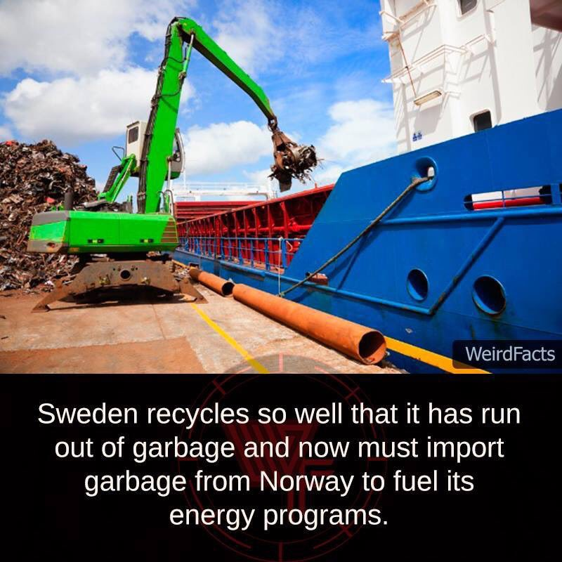 #WeirdFacts Garbage Recycling https://t.co/ulS1vALgkQ