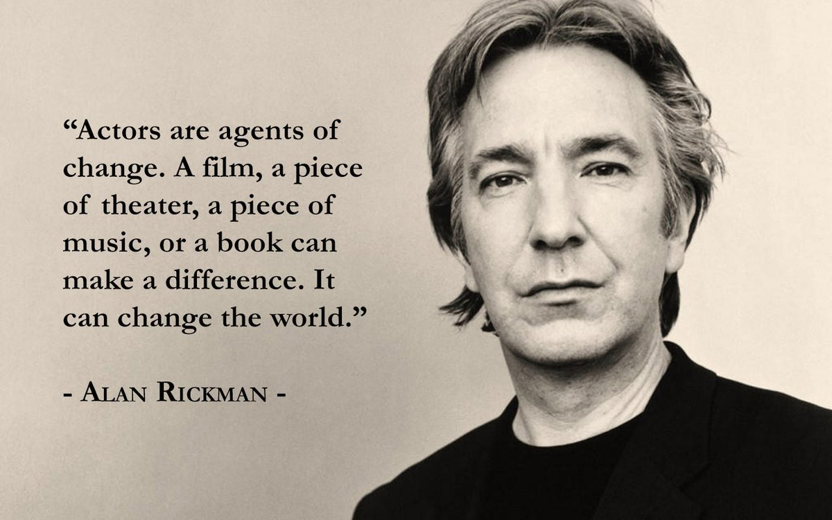 Alan Rickman brought the words on the page to life every time he performed. RIP. https://t.co/cquCnOnVGM https://t.co/0gZb353vO7