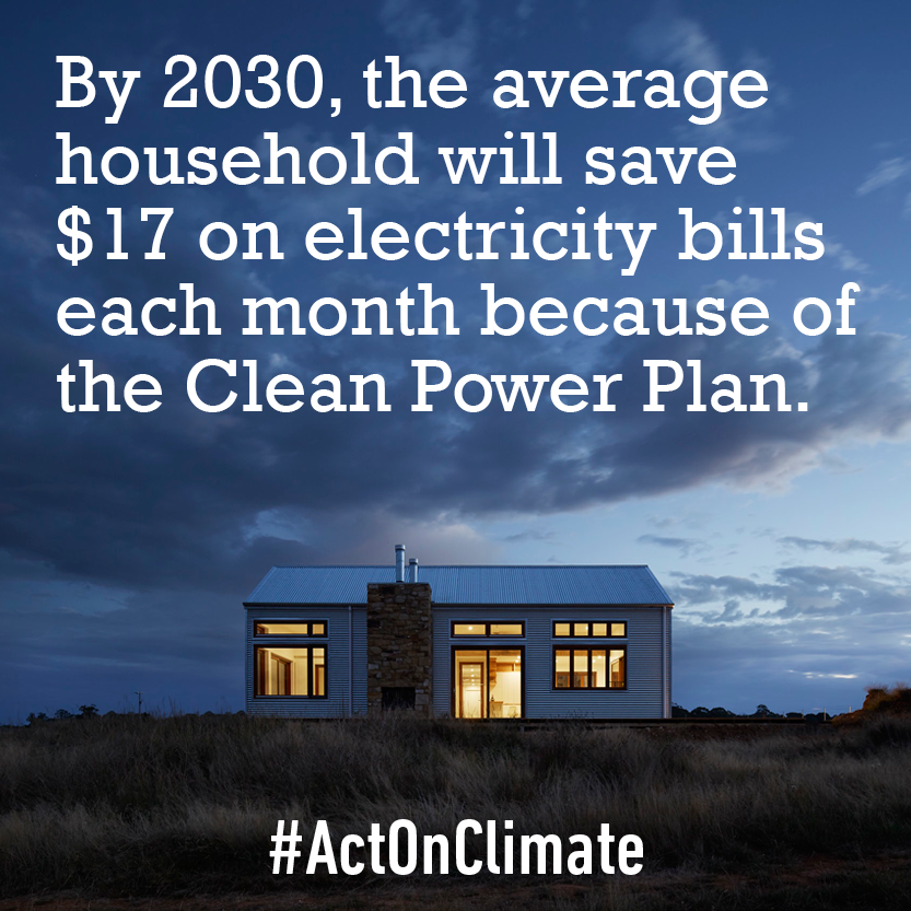BREAKING: New report shows the #CleanPowerPlan will result in avg. savings of $17/mo on elec. bills. #ActOnClimate https://t.co/exXw6JCjX9